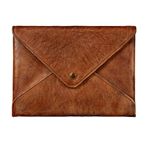 TOPHOME Laptop Sleeve Business Office Bag Briefcase Bag for MacBook Pro 13 MacBook Air 13 inch Laptop/Chromebook/Acer/Asus/Dell/Lenovo/HP/Samsung/Sony/Toshiba Notebook Genuine Leather(Brown) ()