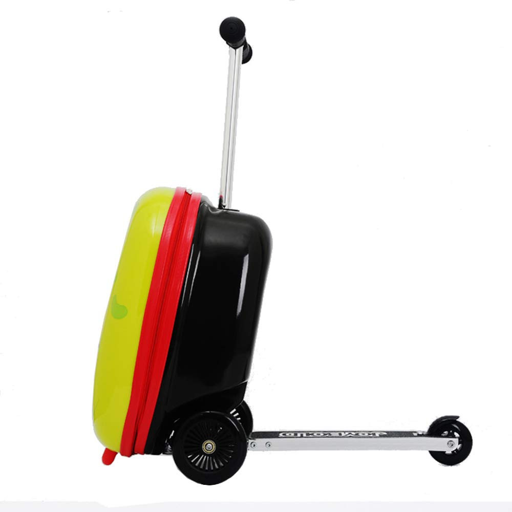 Kids Luggage Scooter 18 Shark Ride-on Mini Scootcase for Boys Luggage Suitcase With Collapsible Scooter Cute Cartoon Childrens Suitcase Baby Scooter Suitcase Trolley Case Slide Car Stand Shark