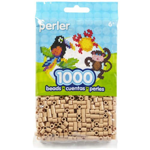 Perler Beads Fuse Beads for Crafts, 1000pcs, Tan