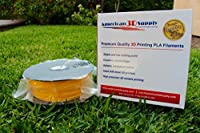 American 3D Supply PLA 3D Printer Filament, 1 kg Spool, 1.75 mm, Yellow by American 3D Supply