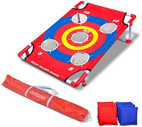 GoSports Bullseye Bounce Cornhole Toss Game - Great for All Ages & Includes Fun Rules
