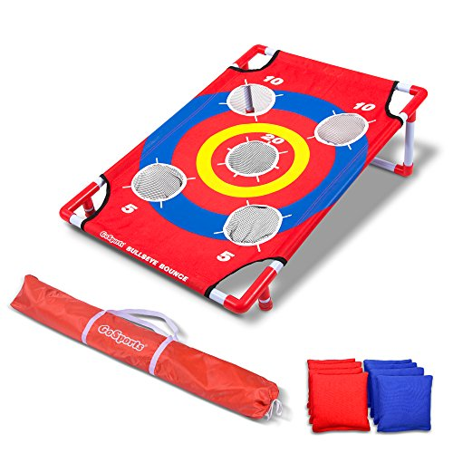 GoSports Bullseye Bounce Cornhole Toss Game - Great for All Ages & Includes Fun Rules (Yard Target Chairs)
