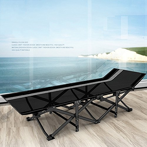 ZR- Office Cot  Folding Bed  Simple Portable Single Camp Bed  Napping Bed  Deck Chair (Color : 1001)