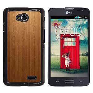 Be Good Phone Accessory // Dura Cáscara cubierta Protectora Caso Carcasa Funda de Protección para LG Optimus L70 / LS620 / D325 / MS323 // Wood panel Texture Patern