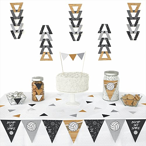 Bump, Set, Spike - Volleyball - Triangle Baby Shower or Birthday Party Decoration Kit - 72 Pieces ()