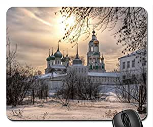 amazing orthodox churches in winter Mouse Pad, Mousepad (Religious Mouse Pad) by icecream design