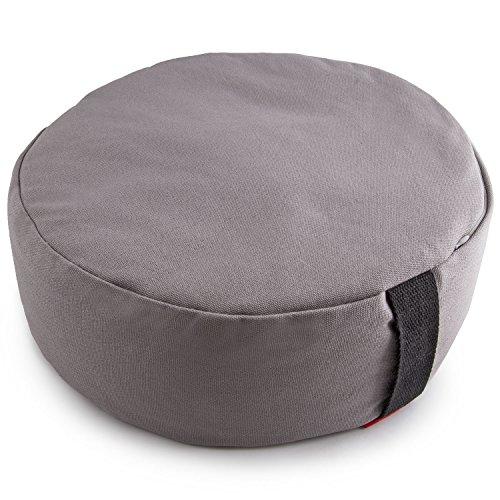 Peace Yoga Zafu Meditation Yoga Buckwheat Filled Cotton Bolster Pillow Cushion with Premium Designs Choose your Design & Size