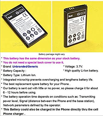 AceSoft 1650mAh Extended Slim Battery for Samsung Rugby 4 SM-B780A AT/&T Cellphone