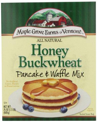 Maple Grove Farms Pancake Mix Honey Buckwheat, 24-Ounce (Pack of 6) (The Best Buckwheat Pancakes)