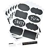 MFLABEL 48pcs Reusable Chalkboard Labels with
