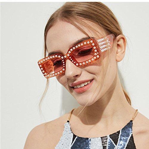 Vacances lentille Surdimensionnées Sharplace de Soleil Lunette Carre Cadre Lunettes Mode Femme orange SzCvRSq7