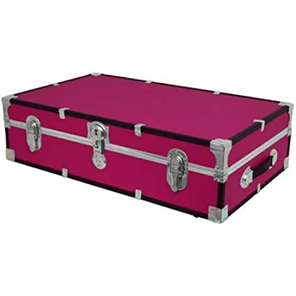 Beau Under The Bed Wheeled Storage Trunk PINK