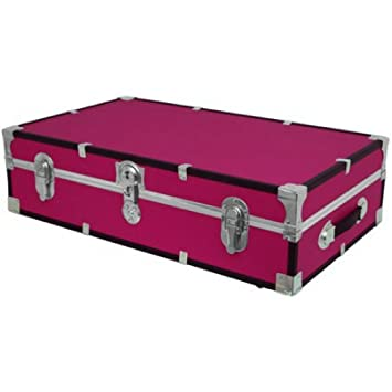 Under The Bed Wheeled Storage Trunk PINK
