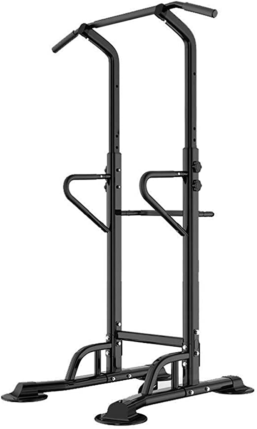 ADLIN Barra dominadas, Entrenamiento Power Tower Dip estación for el hogar Gimnasio Entrenamiento de Fuerza Equipo de la Aptitud de Altura Ajustable (Color : Black): Amazon.es: Jardín