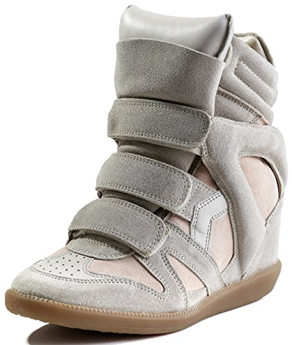 isabel-marant-womens-velcro-snap-high-top-real-leather-sneakers-37-nude