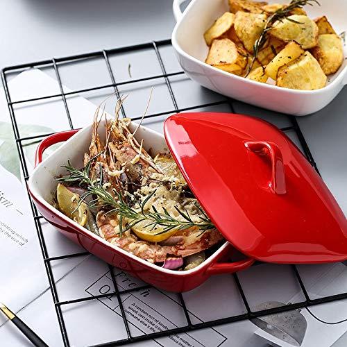 ERCZYO queso al horno de cerámica plato de arroz fuente de horno ...