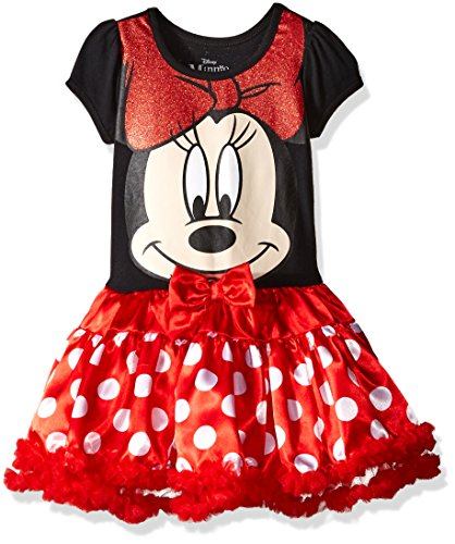[Disney Little Girls'  Minnie Mouse Role Play Dress, Red, 6X] (Little Girl Minnie Mouse Costumes)