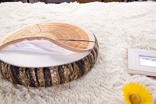 Tree Stump Pillow Plush | Round Wood Slice Pillow 3