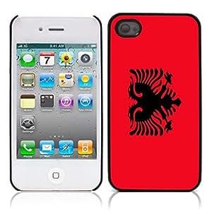 Flag of Algeria Hard Plastic and Aluminum Back Case for Apple iphone 4 4S hjbrhga1544
