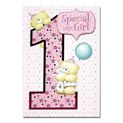 Amazon little girl 1st birthday forever friends birthday little girl 1st birthday forever friends birthday greetings cards m4hsunfo