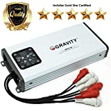 Gravity GBR300.4DM True 600-Watt RMS Micro Ultra Compact Digital 4-Channel Full Range Amplifier with RCA Stereo input - IPX65 Waterproof - Perfect for Motorcycle, RV, ATV, Car, Boat, Marine