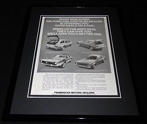1972 American Motors Framed 11x14 ORIGINAL Advertisement Gremlin Hornet Javelin