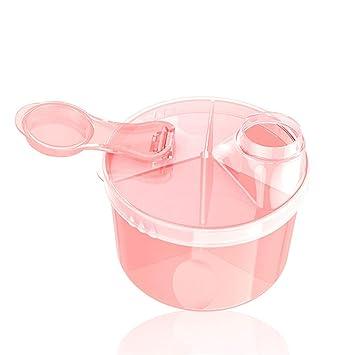 Caja de leche en polvo Dispensador de leche en polvo para alimentación de contenedores de almacenamiento de alimentos para bebés Dispensador de leche ...