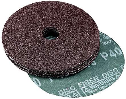 5-inch aluminum oxide resin fiber discs. X 7/8 in, Center hole 40 grinding discs for sanding grain, pack of 5