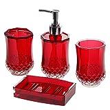JustNile 4 Piece Elegant, Luxurious, Translucent
