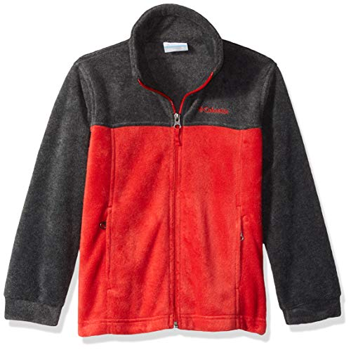 Columbia Boys' Little Steens Mt II Fleece, Charcoal Heather/Red Spark, XX-Small