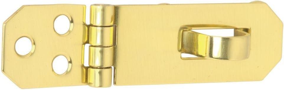 "Schlage Lock Company 545431 Schlage Decorative Hasp 3//4 x 2 3//4/"" Brass 2-3//4 in L 3//4 in Shackle Bright"
