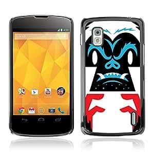CASETOPIA / Abstract Gorilla / LG Google Nexus 4 E960 / Prima Delgada SLIM Casa Carcasa Funda Case Bandera Cover Armor Shell PC / Aliminium