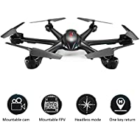 Qsmily MJX X600 Headless Mode 2.4GHz 6 Axis Gyro RC Drones Quadcopter with 3D Roll UFO Helicopter Remote Control Toys (Without Camera - Black)