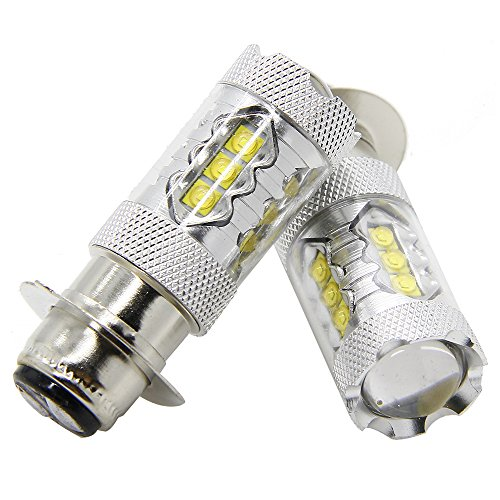 80W LED Headlights Bulbs H6M Lamps for 2004-2009 Yamaha YFZ450 Banshee 350 YFZ350 (Pack of 2)