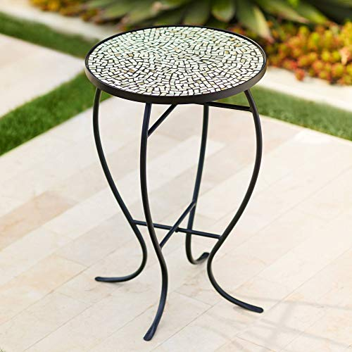 Teal Island Designs Zaltana Mosaic Outdoor Accent Table (Resin Driftwood Table)