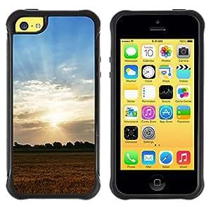 Suave TPU GEL Carcasa Funda Silicona Blando Estuche Caso de protección (para) Apple Iphone 5C / CECELL Phone case / / Nature Field Sunset /