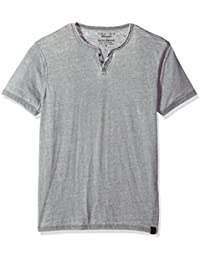 Men's Venice Burnout Notch Neck Tee Shirt