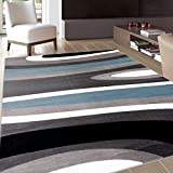 "Rugshop Abstract Contemporary Modern Area Rug, 3'3"" x 5'3"", Blue"