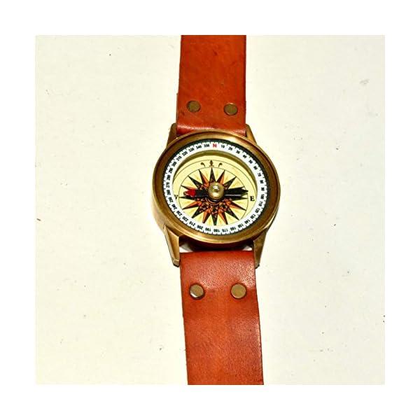 Antique Steampunk Wrist Brass Compass & Sundial-Watch Type Sundial@ 5