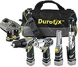 Durofix RD1295WIL 12-Volt Li-ion 4 Tools Combo Kit (Impact Wrench/Ratchet/Drill/LED Light + Tool Bag)