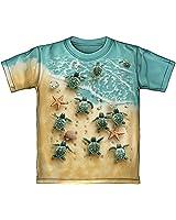 Dawhud Direct Turtles On The Beach Tie-Dye Youth Tee Shirt (Medium 8/10)