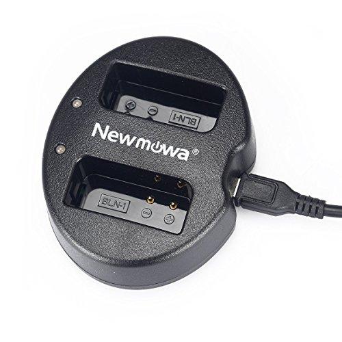 Newmowa Dual USB Charger for Olympus BLN-1 BCN-1 and Olympus OM-D E-M1 OM-D E-M5 Pen E-P5 OM-D E-M5 II