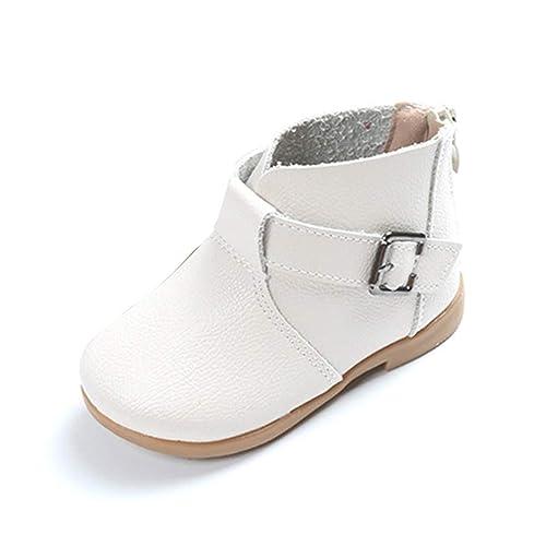 Botas para niños Botas de Cuero para Mujer Botines con Cremallera para el Tobillo Moda para niños pequeños Zapatos cómodos: Amazon.es: Zapatos y ...