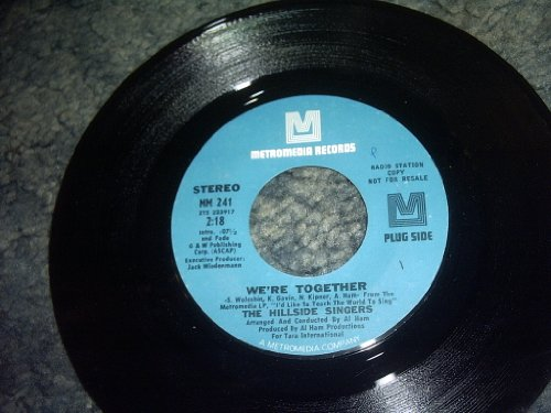 We're Together 45 Rpm Record