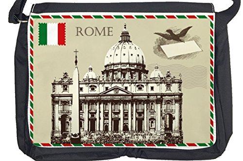 Borsa Tracolla Voglia Viaggiare Città Roma Italia Stampato