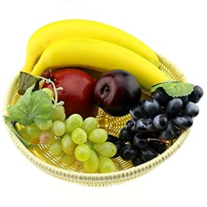 Gresorth Mixed Fruits Fake Banana Grape Brin Pomegranate Set Artificial Fruit for Christmas Party Decoration Realistic 2
