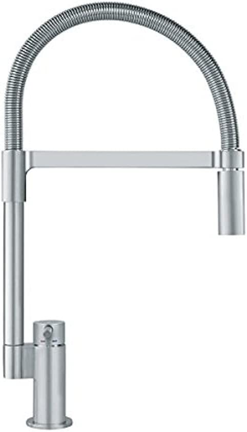 Franke FF2980 Manhattan Single Handle Pull-Down Kitchen Faucet, Satin Nickel