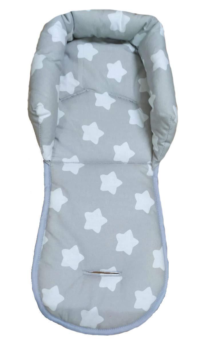 Sweet Baby Softy Plus Sitzverkleinerer Mit Gurtpolster Universal Set Für Jede Babyschale Atmungsaktiv Waschbar 100 Baumwolle Big Grey Stars Küche Haushalt