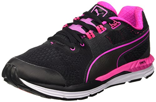 Puma Speed 600 Ignite Wn Chaussure de Course à Pied Noir/Silver/Pink Glo Aged 3,5