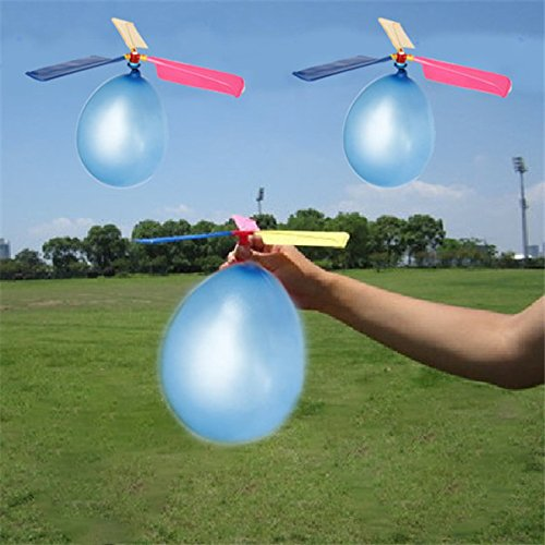 Yansion Helicopter Balloon Summer Party Balloons Air Flying Toys for Kids, 12 Piece